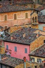 iPhone обои Италия, Урбино, город, крыша