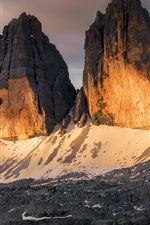 Preview iPhone wallpaper Italy, mountain range, snow, nature landscape