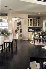 Kitchen, furniture, interior