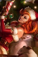 League of Legends, Miss Fortune, menina de Natal, imagens de arte