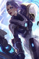 Preview iPhone wallpaper League of Legends, girl, weapons