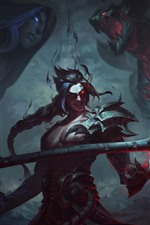 League of Legends, warrior, weapon, art picture