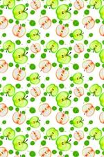 iPhone fondos de pantalla Muchas medias manzanas, fondo de textura