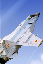 Preview iPhone wallpaper MiG-31B fighter flight, sky