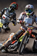 Motorcycles, race, speed, dirt