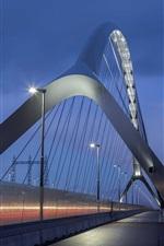 Preview iPhone wallpaper Nijmegen, Netherlands, bridge, illumination, night