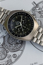 Preview iPhone wallpaper Omega metal watch, dial