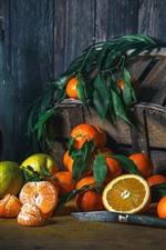 Oranges, citrus, lemon, basket, fruit