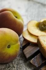 Preview iPhone wallpaper Peach, sandwich, bread, food