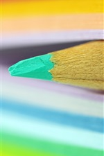 Preview iPhone wallpaper Pencil, book, colorful pages