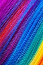 Preview iPhone wallpaper Rainbow color hairs