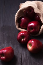 Preview iPhone wallpaper Red apples, bag