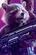 Preview iPhone wallpaper Rocket, Avengers: Infinity War