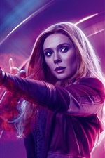 Preview iPhone wallpaper Scarlet Witch, Avengers: Infinity War