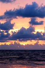 Preview iPhone wallpaper Sea, clouds, sunset, nature scenery