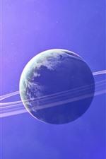 Nave espacial, futurista, planeta, imagens de arte