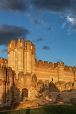 Preview iPhone wallpaper Spain, Castle of Coca, clouds, sunlight