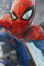 Preview iPhone wallpaper Spider-Man, game, city, top view