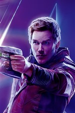 Preview iPhone wallpaper Star-Lord, Avengers: Infinity War