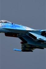 Preview iPhone wallpaper Su-27 combat aircraft