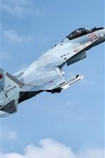 Preview iPhone wallpaper Su-35S fighter flight in sky