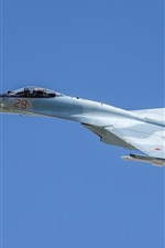 Preview iPhone wallpaper Su-35S multi-role fighter, blue sky