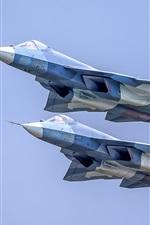 Preview iPhone wallpaper Su-57 multi-role fighter