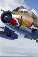 Preview iPhone wallpaper Sukhoi Su-17M4 fighter-bomber