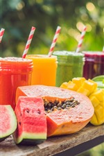 Summer, drinks, smoothies, watermelon, mango
