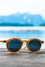 Preview iPhone wallpaper Sunglasses, sea, summer