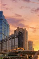 Preview iPhone wallpaper Thailand, Bangkok, clouds, sunset, buildings