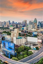 Preview iPhone wallpaper Thailand, Bangkok, skyscrapers, roads, city view