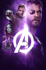 Preview iPhone wallpaper The Avengers: Infinity War, superheroes, black background