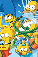 Preview iPhone wallpaper The Simpsons, cartoon, anime