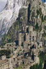 The Witcher 3: Wild Hunt, castelo, floresta, montanhas