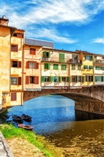 Preview iPhone wallpaper Travel to Europe, bridge, houses, river