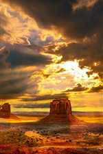 Preview iPhone wallpaper USA, Monument Valley, desert, nature landscape