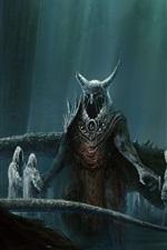 Undead, demons, art picture