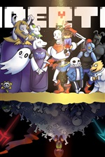 Preview iPhone wallpaper Undertale, RPG game