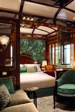 Preview iPhone wallpaper Venice Simplon Orient Express, luxury suite, bed, sofa