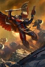 Warhammer 40000, dois guerreiros em batalha