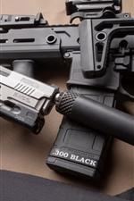 Preview iPhone wallpaper Weapons, gun, pistol, muffler
