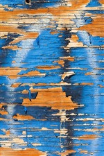 Preview iPhone wallpaper Wood board, blue paint