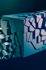 Figura 3D, abstração, fundo preto