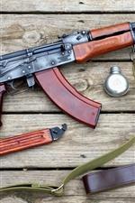 Preview iPhone wallpaper AK-47 gun, bag, knife, weapon