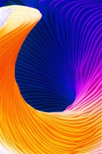 Preview iPhone wallpaper Abstract curve, colorful colors, art picture