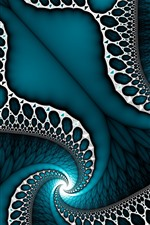 Preview iPhone wallpaper Abstract pattern, blue style