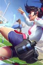 Preview iPhone wallpaper Akali, football, League of Legends