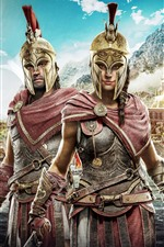 Preview iPhone wallpaper Assassin's Creed: Odyssey, 2018 game, Ubisoft