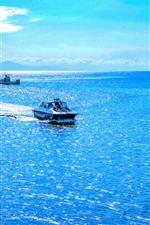 Австралия, прекрасное синее море, лодка